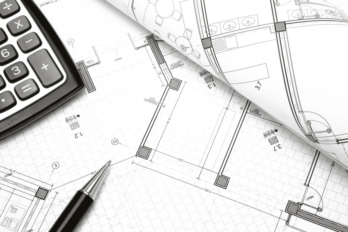 Architectural project construction project concept